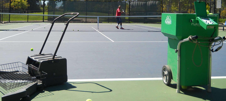 tennis ball shooter game